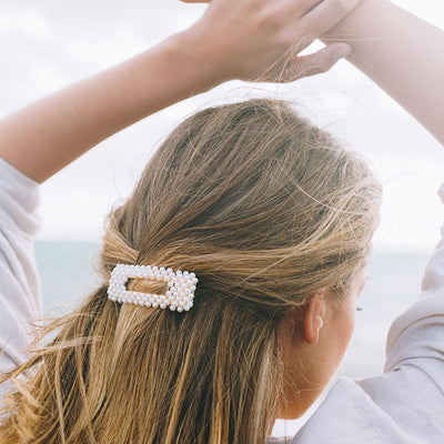 Rectangle Pearl Hair Clip