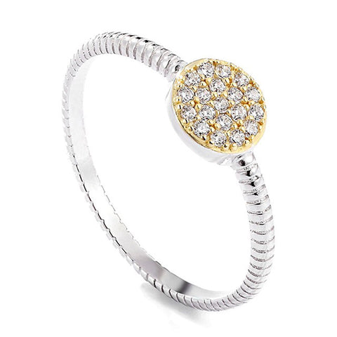 Round Pave Ring