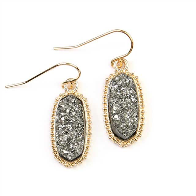 Smokey Druzy Earrings