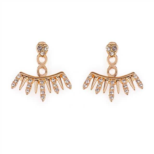 Spike Front Back Earrings