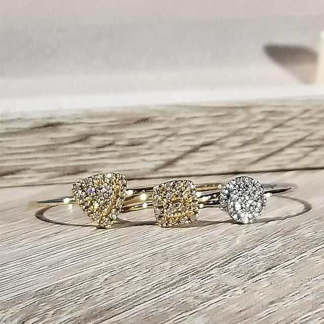 Stackable Triangle Diamond Ring | 14kt Gold