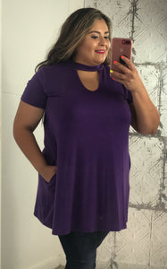 Blessed & Unique Tunic- Purple
