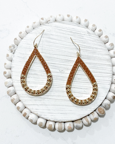 Mona Earrings-Brown