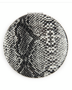Snake Skin Printed Pocket Mirror- Black