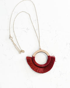 Ruth Necklace- Burgundy