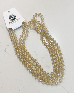 Blessed and Unique Beaded Necklace- Champagne