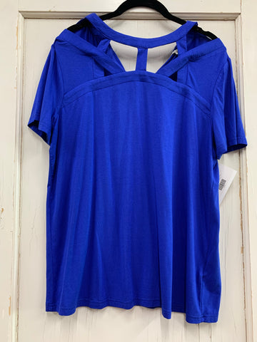 Don't Cross Me Top- Royal Blue