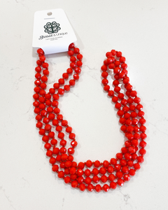 Blessed and Unique Beaded Necklace- Red