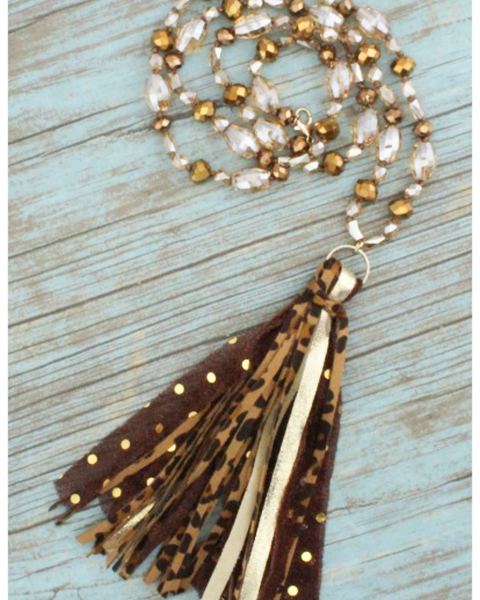Tate Necklace- Brown