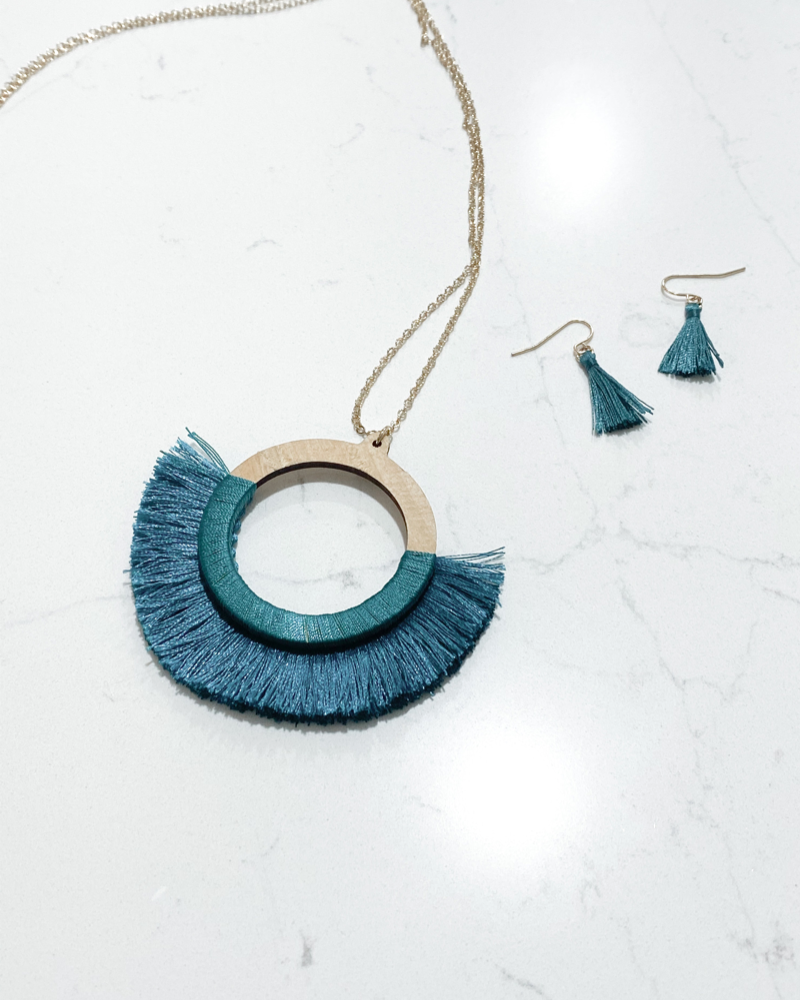 Ruth Necklace- Teal