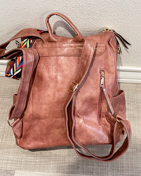 HENRY GUITAR STRAP BACKPACK- DUSTY PINK