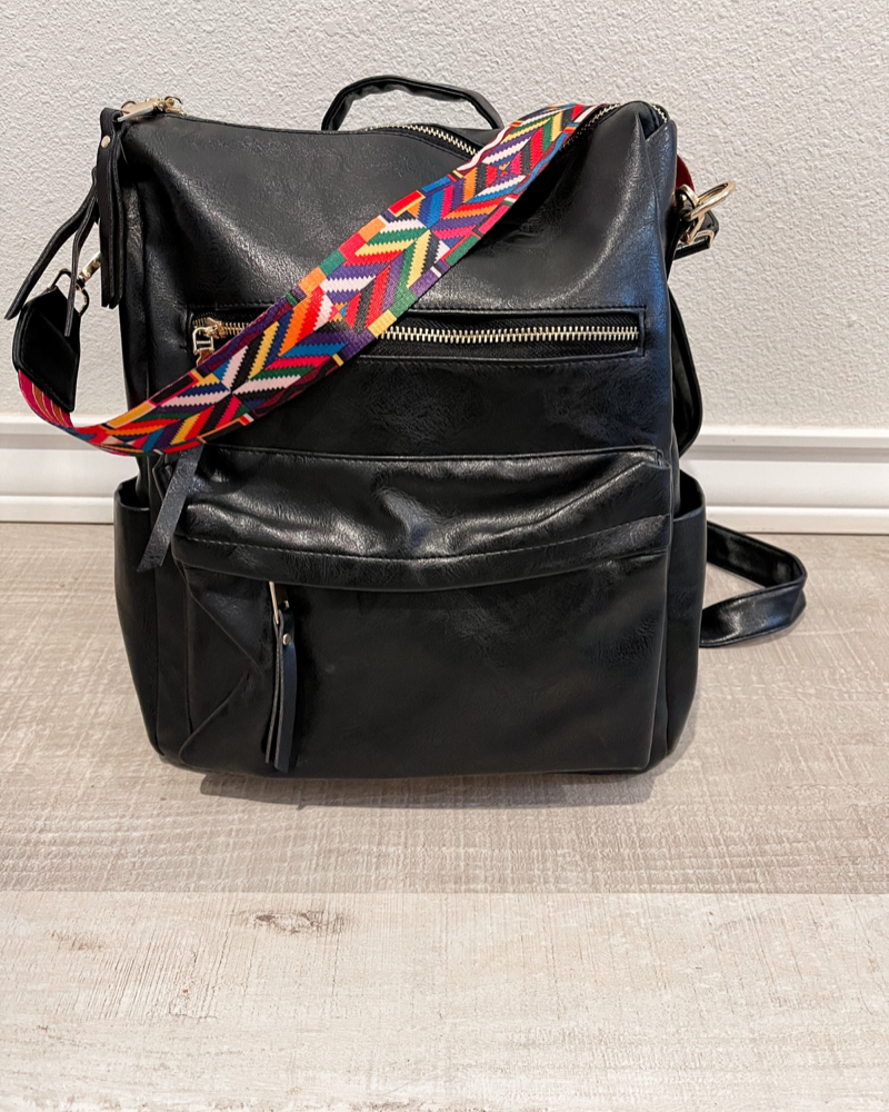 HENRY GUITAR STRAP BACKPACK- BLACK