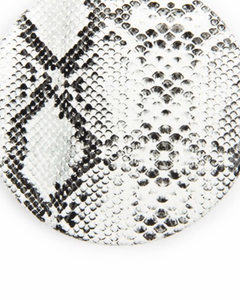Snake Skin Printed Pocket Mirror- White