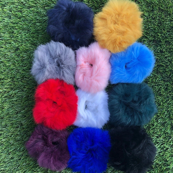Fluffy sensory wrist bands or hair ties