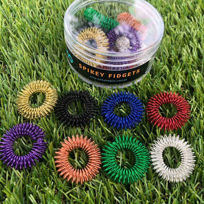 Set of ALL 8 Spikey Fidgets for the fingers Save $16.65