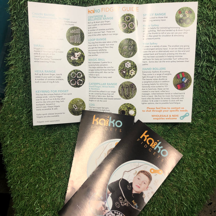 Kaiko Fidget Resource Guide Pamphlet - FREE - feel free to order multiples