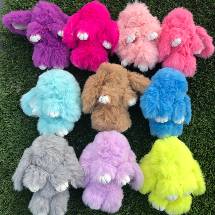 Fluffy Bunny Keyrings - Super SOFT