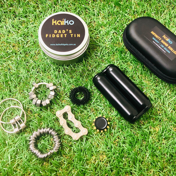 Dad's Fidget Tin & Hand Roller Set
