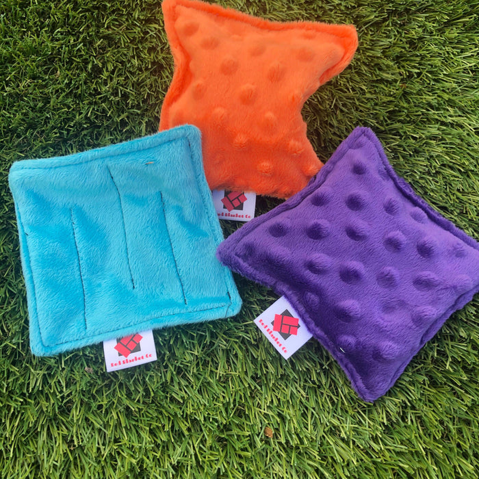 Set of 3 robust sensory fabric fidgets