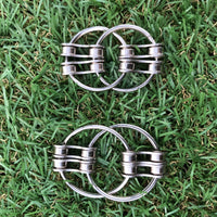 DOUBLE LOOP bike chain fidget - dual chain link - 2 sizes small and large