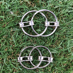 Double LOOP bike chain fidget - single chain link - 2 sizes small and large