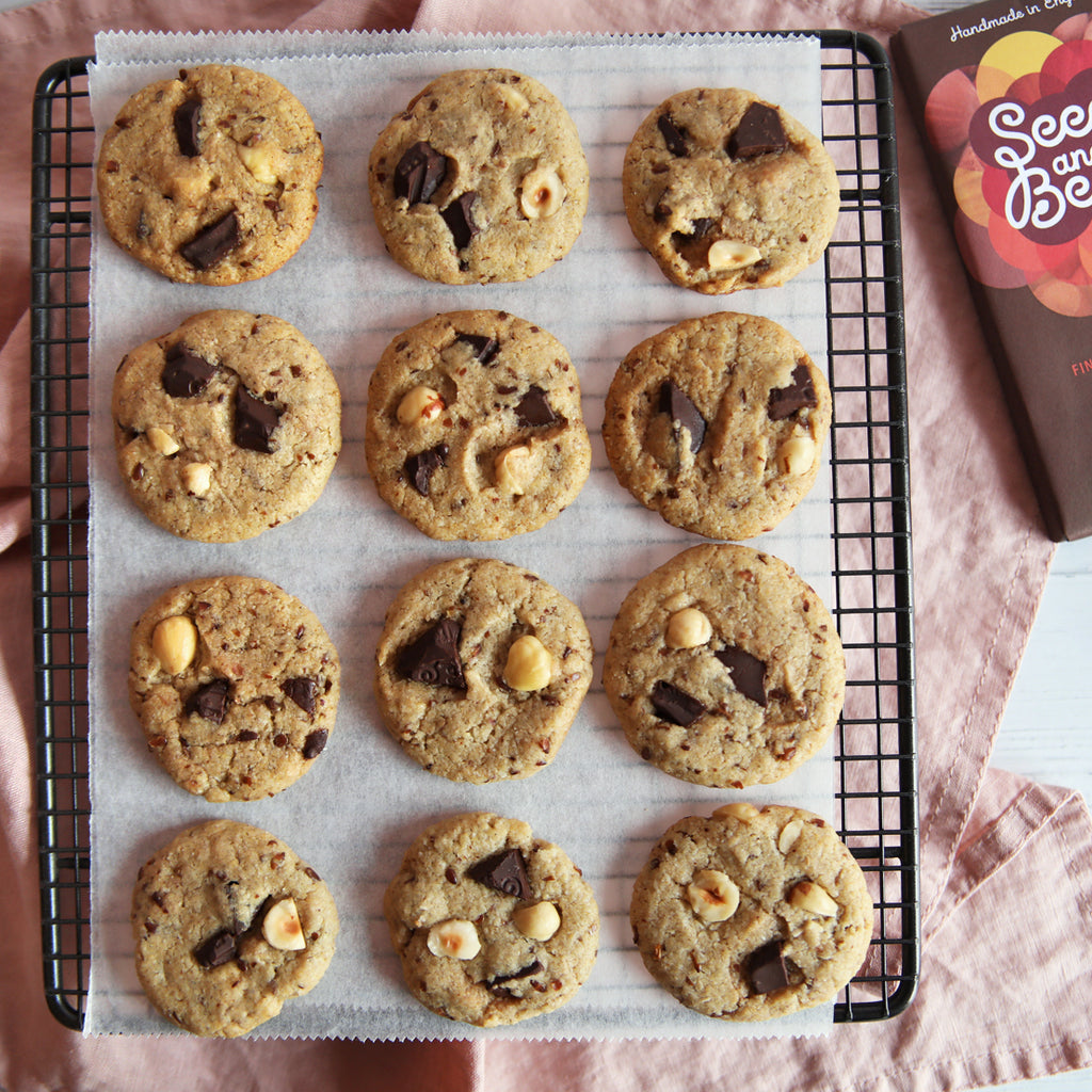 Dark Chocolate Chunk & Hazelnut Cookies