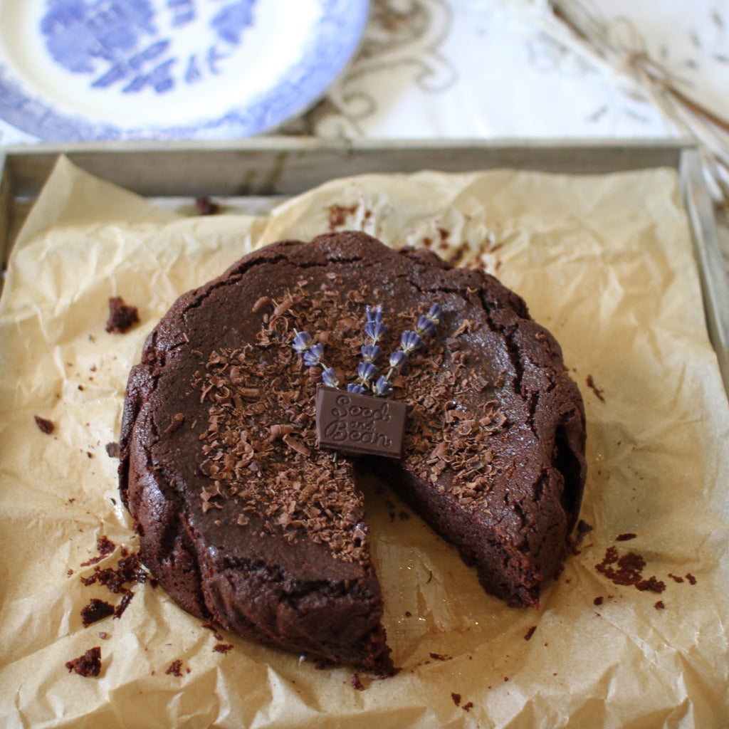Dark Chocolate and Lavender Cake