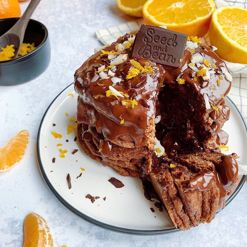 Orange, Mandarin & Ginger Melt in the Middle Chocolate Pancakes