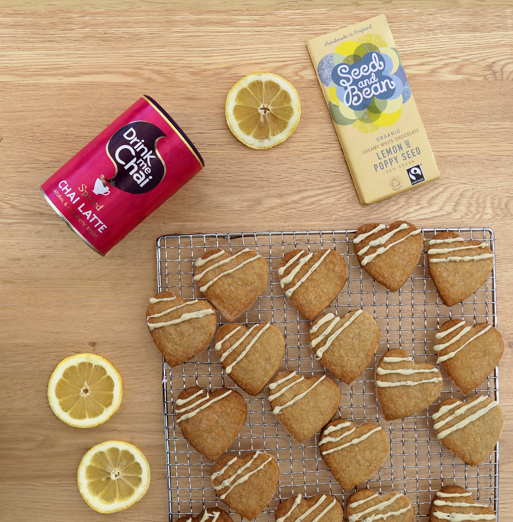 Lemon and Poppy Seed White Chocolate and Chai Shortbread
