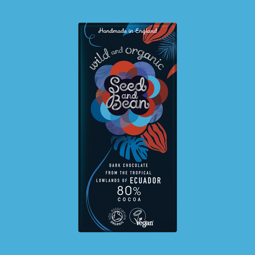 Wild & Organic 80% Cocoa Ecuadorian Dark Chocolate 75g Bar