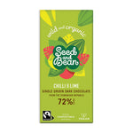 Chilli & Lime Extra Dark Chocolate 85g Bar (72% Cocoa)