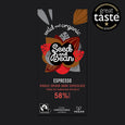 Coffee Espresso Dark Chocolate 85g Bar (58% Cocoa)
