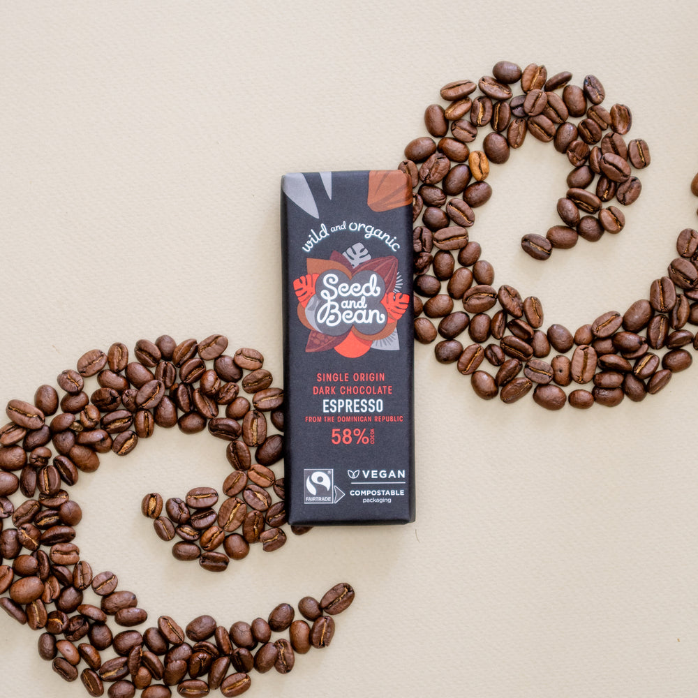 Coffee Espresso Fine Dark Mini Bar 25g (58% Cocoa)