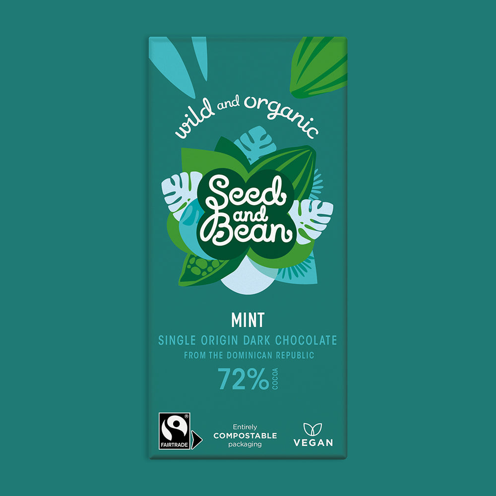 Mint Extra Dark Chocolate 85g Bar (72% Cocoa)