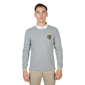 Oxford University Bekleidung Polo grey / S Oxford University - ORIEL-POLO-ML HIRA-fashion