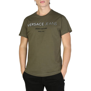 Versace Jeans Bekleidung T-Shirts green / S Versace Jeans - B3GSB71C_36609 HIRA-fashion
