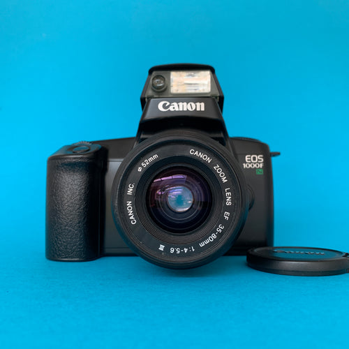 Canon EOS 1000F Fully Auto SLR 35mm Film Camera w/ 35mm-80mm Zoom Lens