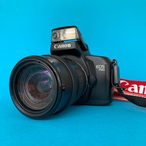 Canon EOS 750 Fully Auto SLR 35mm Film Camera w/ 35mm-105mm Zoom Lens