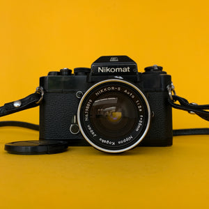 Nikon EL Vintage 35mm SLR Film Camera w/ Nikkor-S f/2.8 35mm Lens