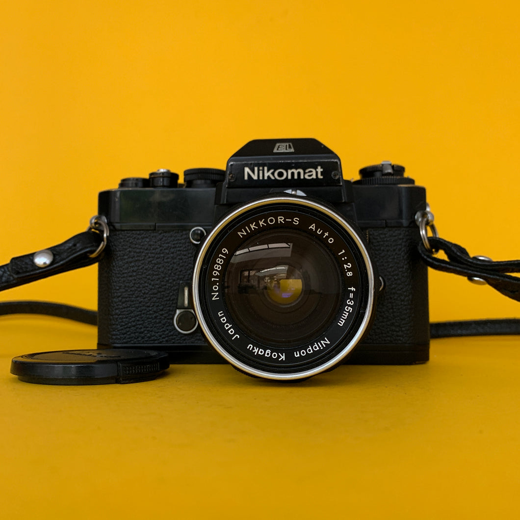 Nikon EL Vintage 35mm SLR Film Camera w/ Nikkor-S f/2.8 35mm Lens - Film Camera Store