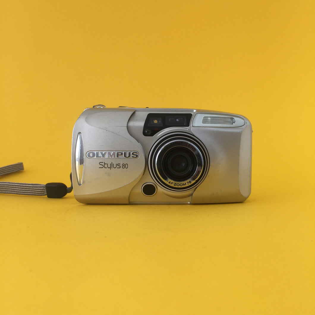 Olympus Stylus 80 Quartz Date 35mm Film Camera Point & Shoot