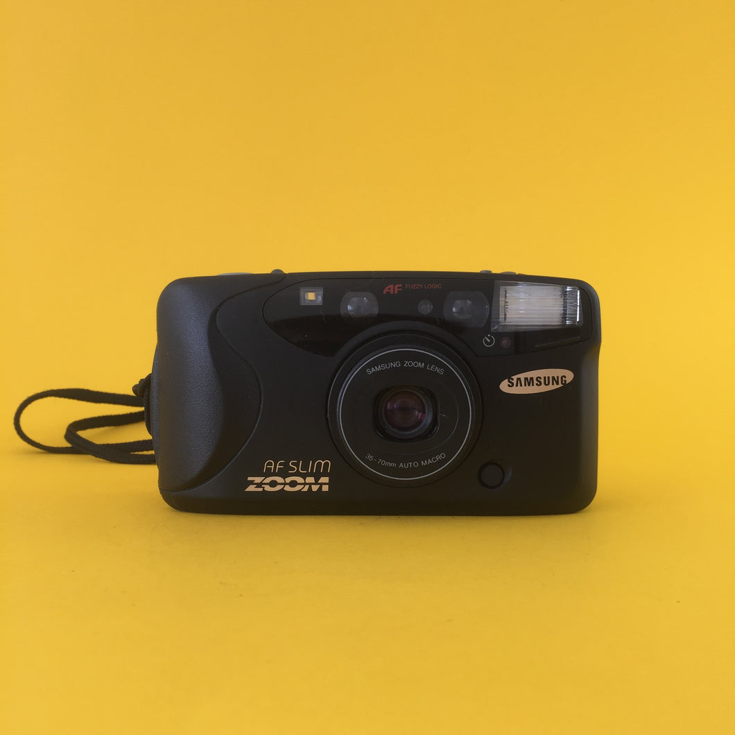 Samsung AF SILM Zoom 35mm Film Camera Point and Shoot - Film Camera Store