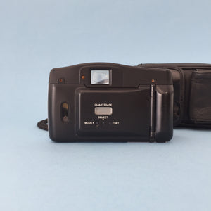 Olympus AF-10 XB QUARTZ DATE STAMP 35mm Film Camera Point and Shoot and Black Leather Olympus Case - Film Camera Store