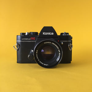 Konica Autoreflex TC Vintage SLR 35mm Film Camera with Konica f/1.7 50mm Lens - Film Camera Store