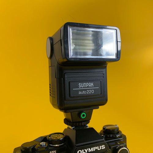 SUNPAK Auto 220 External Flash Unit for 35mm Film Camera - Film Camera Store