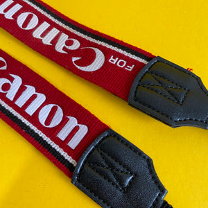 Genuine Canon Red SLR Camera Strap - Film Camera Store