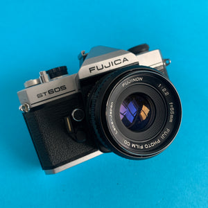 Fujifilm ST605 35mm SLR Film Camera w/ Prime Lens - Film Camera Store