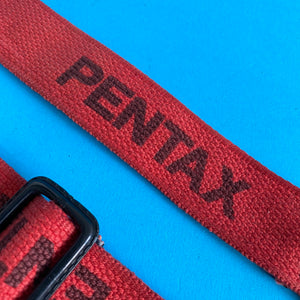 Vintage Pentax Red SLR Camera Strap - Film Camera Store