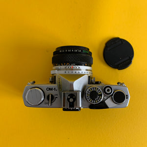 Olympus OM 1 Vintage 35mm SLR Film Camera with f/1.8 50mm Prime Lens - Film Camera Store