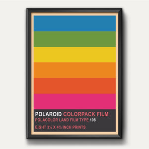 Polaroid Colourpack Film Camera Poster